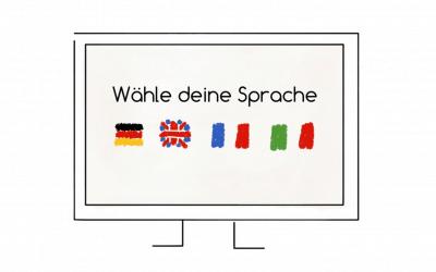 Drei Möglichkeiten für mehrsprachige Webseiten