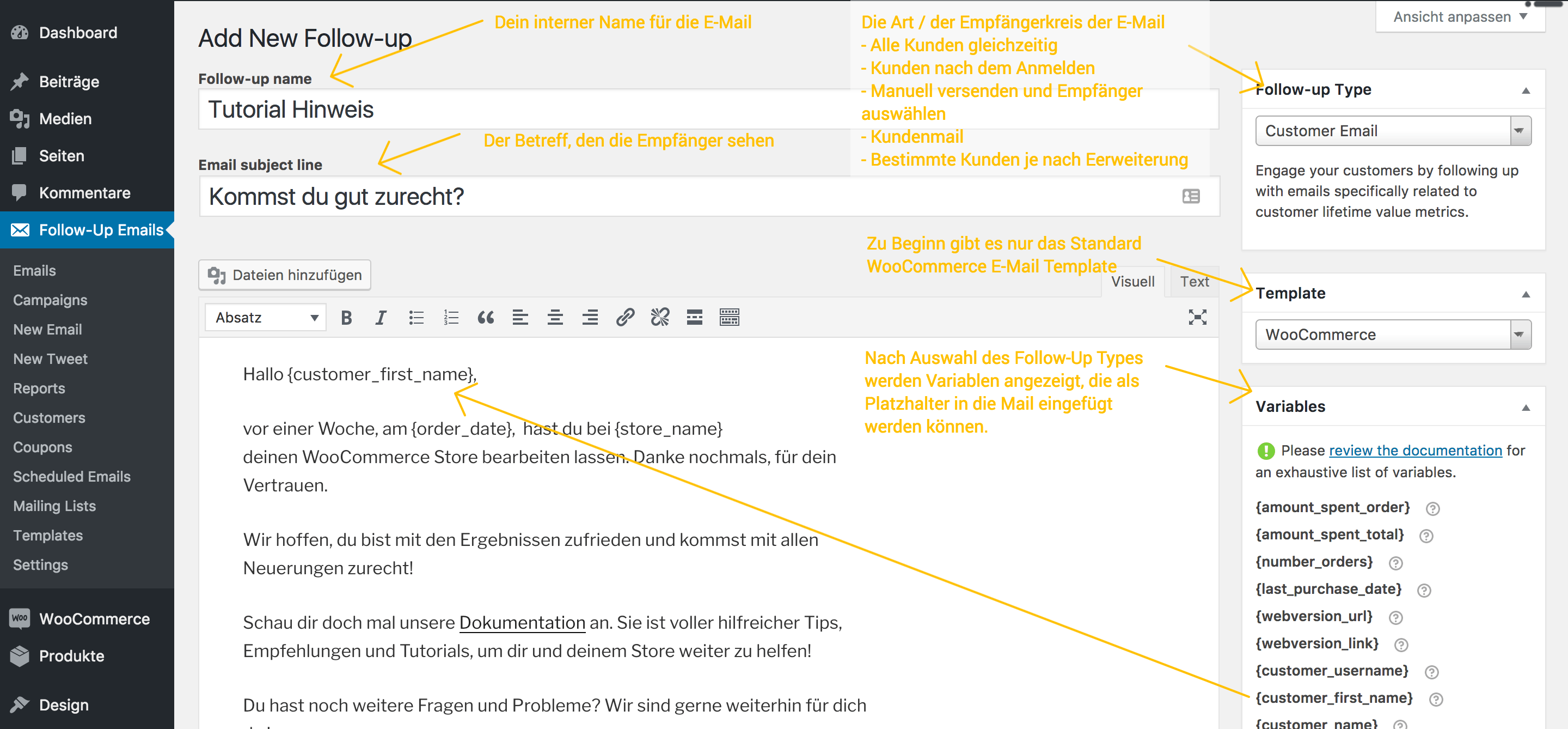 Follow-Ups E-Mail Erstellung